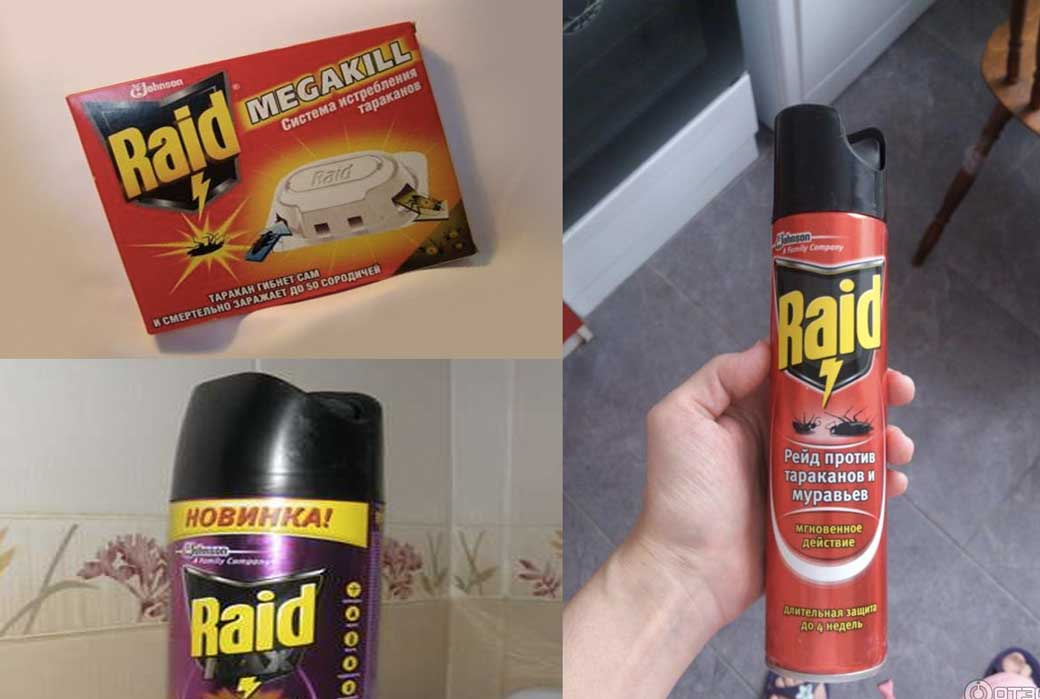 Рейд средство от тараканов